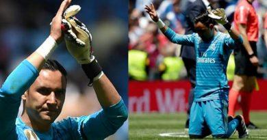 Se hincó y dio gracias a Dios, Keylor jugó su último partido con Real Madrid.